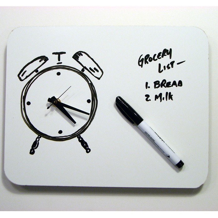 Funny Dry Erase Board Drawings White Board Clock