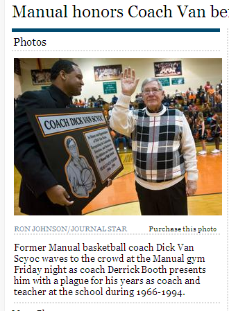 Coach gets plaque - err plaque